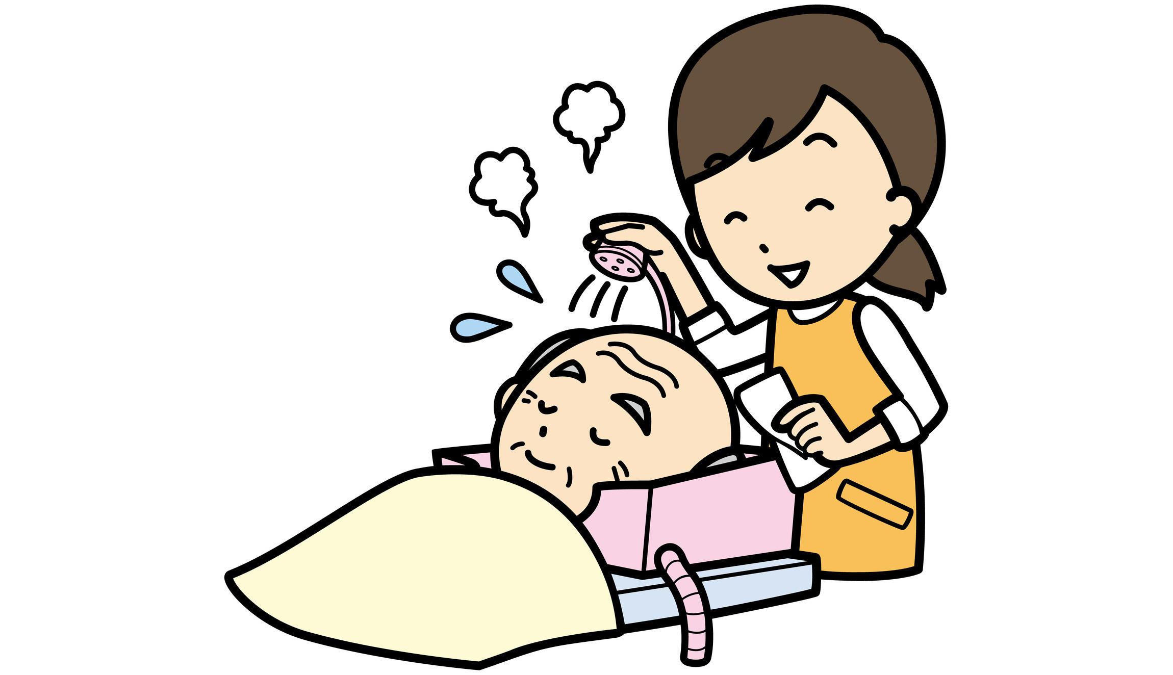 寝たままでもシャンプーですっきりご高齢者の洗髪介助のポイント介護の